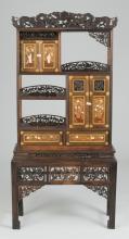 19th c. Inlaid Meiji Cabinet