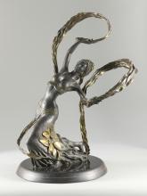 Bronze Ribbon Dancer Sculpture, Jiang Tie-feng