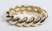 14K Shrimp Link Bracelet