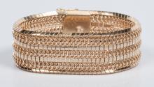 18K Link Bracelet, 85.1 grams