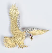 Rosenthal American Eagle Brooch