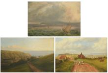 3 English School Paintings c. 1840