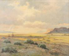 Robert Wood New Mexico Landscape Oil Painting