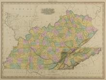 KY and TN 1823 Map, H.S. Tanner