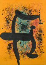 Joan Miro lithograph, 74/75, Le Verdengeur d'Oranges