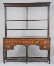 Diminutive Oak Welsh Dresser, 2 shelves