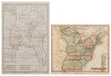2 Maps, LA/FL and US, Late 18th and early 19th century