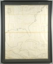 Skeleton Map Showing Railroads, United States GPO, 1849