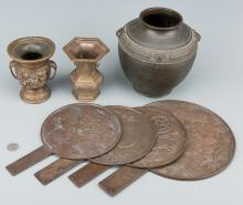 7 Asian Bronze Items