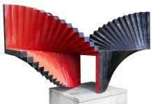 George Sugarman Sculpture, Red And Black Spiral, 1975