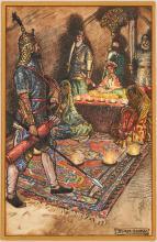 John Shaw Mixed Media Illustration, The Boy King