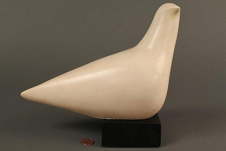 Cleo Hartwig Plaster dove sculpture