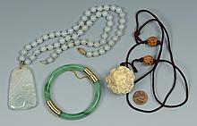 Group of Jade Jewelry & Other