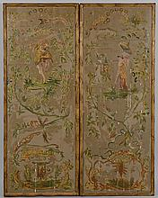 Pair Painted Chinoiserie Panels