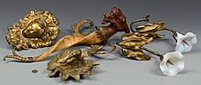 Carved Griffin & Decorative Brass