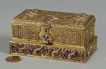 Tiffany Bronze Stamp Box