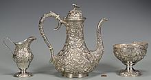 Kirk Repousse Sterling Tea Set