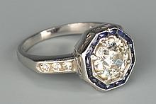 Art Deco 1.65 ct Diamond Ring