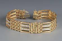 14k Diamond Link Bracelet, 8 1/4