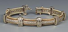 14k Diamond Link Bracelet, 8