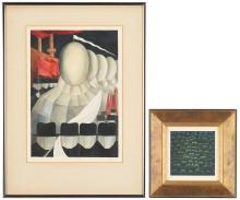 2 Works on Paper, incl. Yozo Hamaguchi