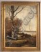 Conrad Wimmer landscape oil on canvas, Conrad Wimmer, Click for value