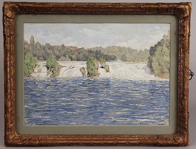 Heinrich Lotter, watercolor landscape, Reichenau