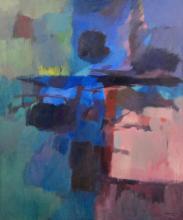 George Cress acrylic on canvas titled Night Sea