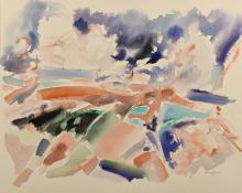 George Cress TN Cubist Watercolor