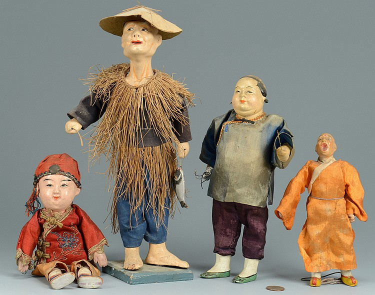 Grouping of 4 Chinese Dolls