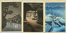 3 Hasui Japanese Woodblock Prints