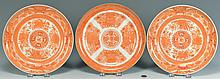 3 Export Plates: Orange Fitzhugh