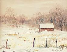 Marion Cook o/c, barn in snow