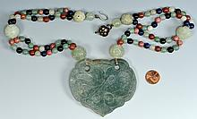 Chinese Jade Pendant Necklace