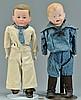 2 German Bisque Boy Dolls