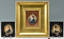 3 American Portrait Miniatures