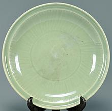 Chinese Ming Dynasty Celadon Charger