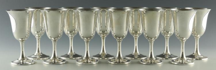 12 Wallace Sterling Silver Goblets