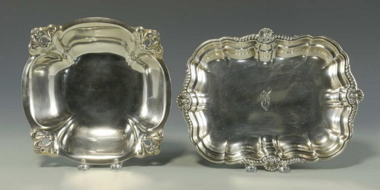 International Sterling Silver Tray & Royal Danish Silver Bowl