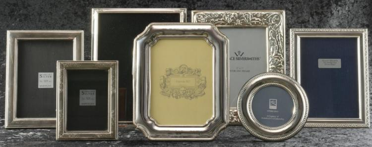7 Sterling Frames, including Lunt, Wallace