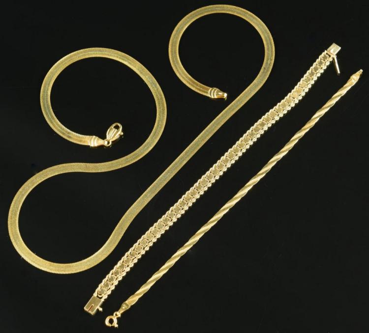 14K Necklace & Bracelets