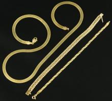 14K Necklace & Bracelets