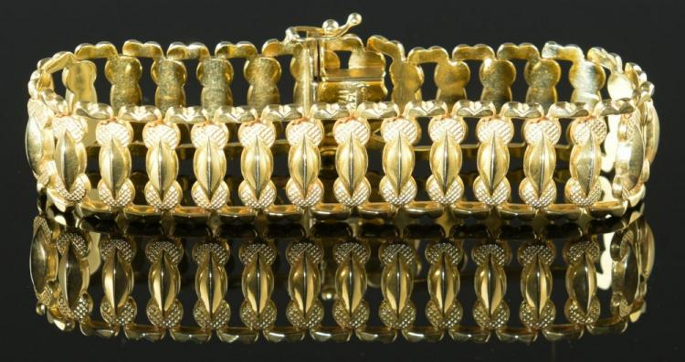 14K Italian Wide Link Bracelet