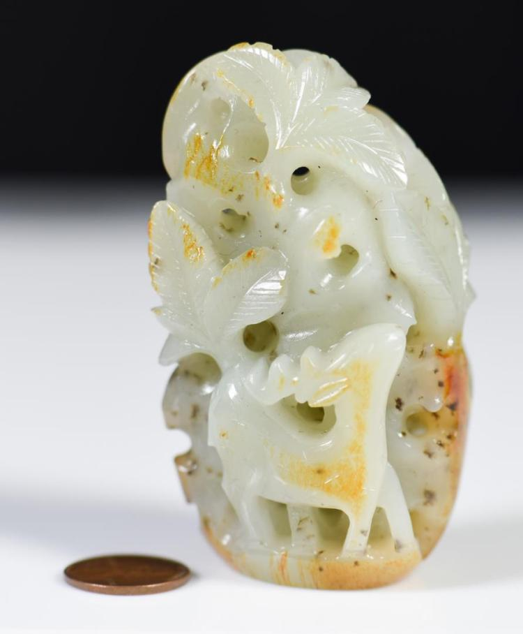 Chinese Celadon Jade Figural Group