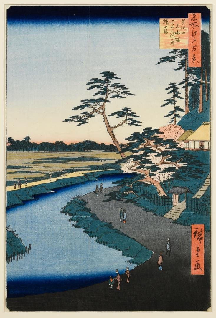 Utagawa Hiroshige Woodblock, 100 Views of Edo