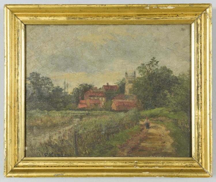 O/C English Landscape, poss. Franz Kidson