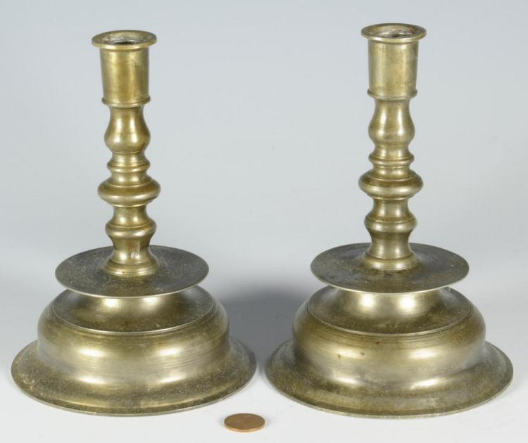 Pair Capstan Candlesticks