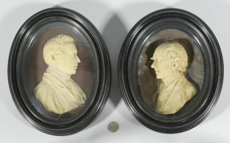 Pr. 19th c. Wax Portraits