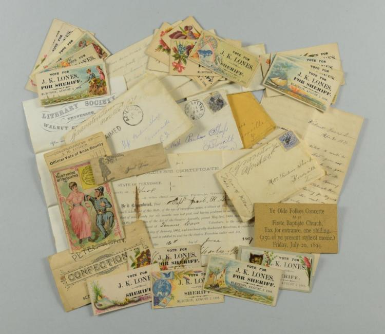Lones Archive of Letters & Ephemera