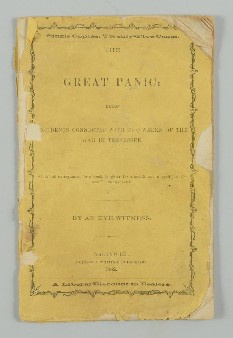 The Great Panic Being Incidents..., Nashville 1862